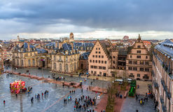 View of Rohan Palace in Strasbourg - France Stock Images