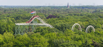 View on a rollercoaster Stock Images
