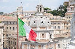 View of the Roma roofs. stock image
