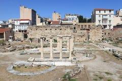 View of roman agora Stock Photo