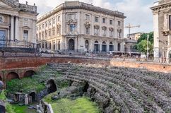View of the Roman Amphitheatre Stock Images