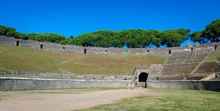 View of Roman Amphitheatre in Pompeii. Royalty Free Stock Photography