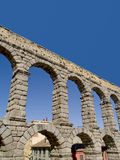 View of Roman aqueduct , Segovia, Spain Royalty Free Stock Images