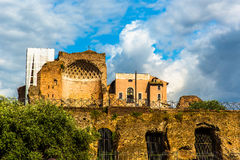 View of Roman city walls Stock Photos