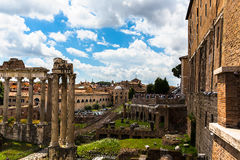 View of Roman city walls Royalty Free Stock Photos