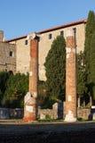 View of Roman columns, Trieste Royalty Free Stock Photos
