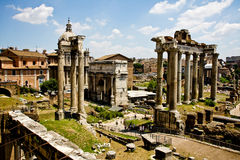 View of Roman Forum Royalty Free Stock Photos