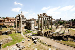 View of Roman Forum Royalty Free Stock Images