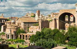 View of the Roman Forum in Rome Royalty Free Stock Images