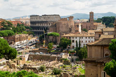 View of Roman Forum in Rome Royalty Free Stock Photo
