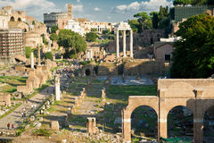 View of the Roman Forum in Rome Royalty Free Stock Image