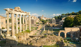View of the Roman Forum in Rome Stock Image