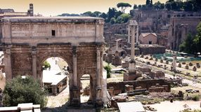 View of roman forum in Rome, Italy Royalty Free Stock Image