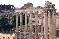 View of roman forum in Rome, Italy Royalty Free Stock Images
