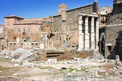 View of roman forum in Rome, Italy Stock Photos