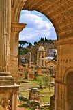 View of the Roman Forum Royalty Free Stock Images