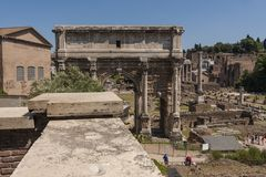 View of the Roman Forum in Rome Royalty Free Stock Photos