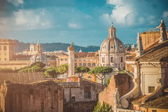 View of the Roman Forum in Rome Stock Images