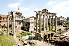 View of Roman Forum ruins Royalty Free Stock Image