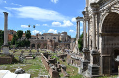 View of the Roman Forum Royalty Free Stock Photo