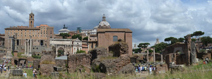 View of the Roman Forum Stock Images