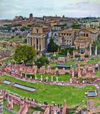A view from The Roman Forum which is the most important forum in ancient Rome royalty free stock photography