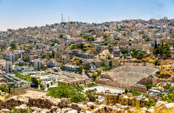 View on Roman Theater in Amman Stock Photos