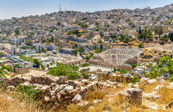 View on Roman Theater in Amman Royalty Free Stock Images