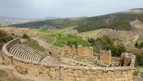 View on the Roman theater. The ruins were built by the Romans 2000 years ago Royalty Free Stock Image