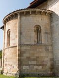 VIEW ROMANESQUE BASILICA, CYLINDER APSE stock images