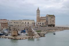 View of the Romanesque church of Trani Puglia, Italy Royalty Free Stock Photo