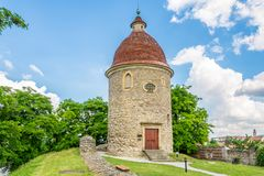 View at the Romanesque Rotunda of Saint George in Skalica - Slovakia stock images