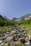 View from Romanian Carpathian Mountains Stock Photo