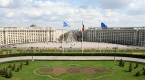 View from romanian parliament palace. View from platform of romanian parliament palace in bucharest royalty free stock photography