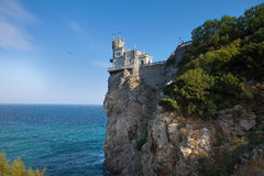 A view of the romantic palace Swallow Nest, erected on a cliff Royalty Free Stock Photo