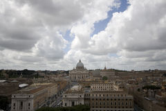 View of Rome. From Castel St. Angelo Stock Photos