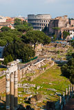 View on Rome. Panoramic view on Rome city Stock Images