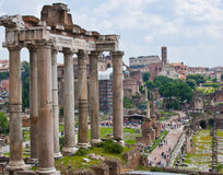 View on Rome. Panoramic view on Rome city Royalty Free Stock Images