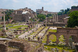 View on Rome. Panoramic view on Rome city Stock Image