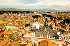 View of Rome. View from the top of San Pietro towards Castel San Angelo in Rome, Italy Stock Photo