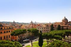 View of Rome from Altare della Patria. Chiesa Del Gesu. Italy Stock Image