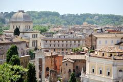 View of Rome from the Campidoglio Royalty Free Stock Image