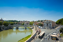 View of Rome from Castel Sant'Angelo, Italy Royalty Free Stock Photography