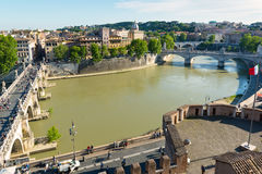 View of Rome from Castel Sant`Angelo Stock Photos