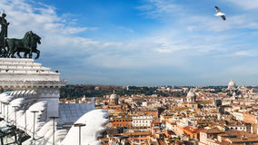 View of Rome city from Altare della Patria Royalty Free Stock Photography