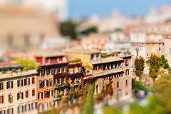 View of Rome city centre from the Palatine Hill, Italy stock photos