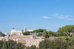 View of Rome city. Rome, Italy - November 7, 2015: The beautiful view of Rome city at sunny autumn day Royalty Free Stock Photography