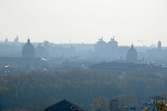 View of Rome City in the Morning Stock Photos