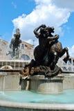 View of Rome city Piazza della Reppublica on June 1, 2014 Stock Photography