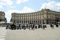 View of Rome city Piazza della Reppublica on June 1, 2014 Royalty Free Stock Photos